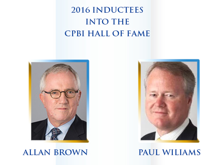 2016 INDUCTEES INTO THE CPBI HALL OF FAME
